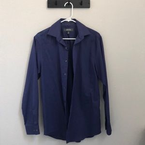 Men's violet purple formal button down